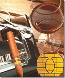 Charuto vinho e chip
