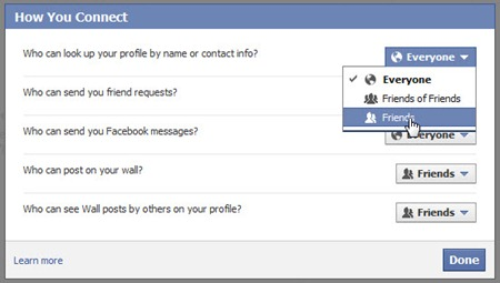 "Settingan ""How You Connect"" di Facebook"