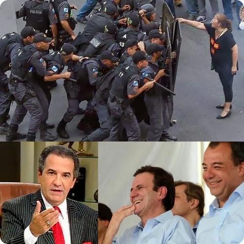 eduardo paes malafaia cabral professores manifestações - priscila e maxwell palheta