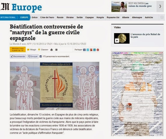 Le Monde Franquisme ecclesial en Espanha 2