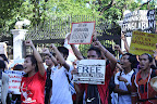 Various student groups led by Anakbayan picketed the palace gates. (Photo by Pom Cahilog-Villanueva)