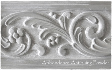 Abbondanza Zinc met Antiquing Powder Dusty White