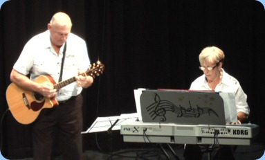 Jan and Kevin Johnston - Jan on her Korg Pa1X keyboard and Kevin on his guitar