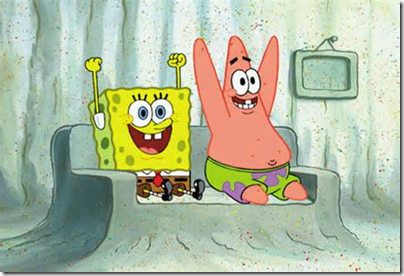 Spongebob and Patrick - Cheering