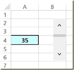 Form Controls in Excel - Scroll Bar