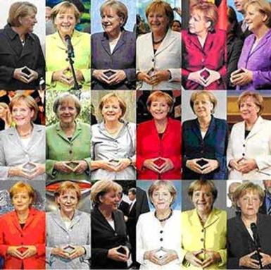Merkel gestures