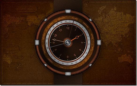 Dexclock sfondo desktop con orologio integrato