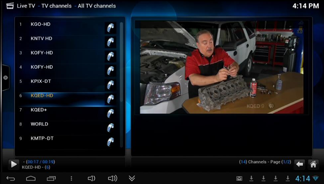 XBMC-LiveTV-All Channels