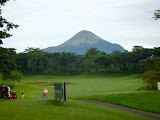 Penanggungan from the first hole at Taman Dayu golf club (Chris Whiting, November 2010)