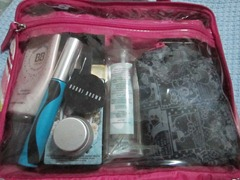 packed travel makeup, bitsandtreats