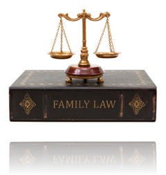 Scales of Justice on Family Law Book iStock_000014647238XSmall
