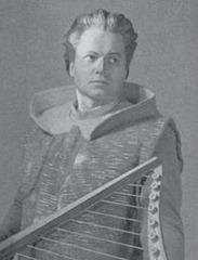 Dietrich Fischer-Dieskau as Wolfram in Wagner's TANNHÄUSER, 1955