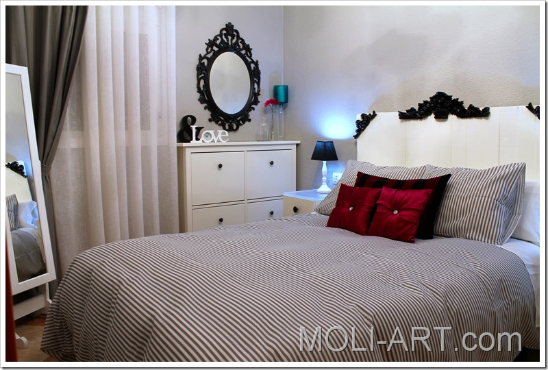 decoración-dormitorio-gris-blanco-negro