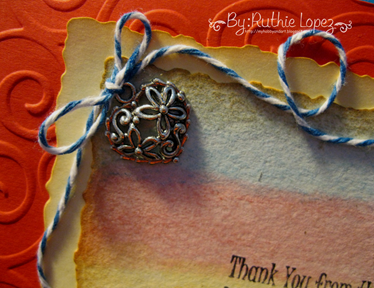 Inky Impressions - Thank You Rubber Stamp Sentiment - Tutorial - Ruthie Lopez. 2
