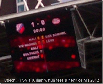 Utrecht- PSV 1-0