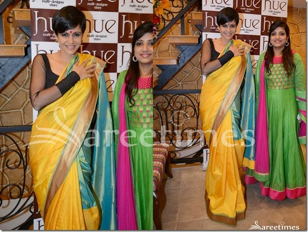 Mandira_Bedi_Yellow_Silk_Saree