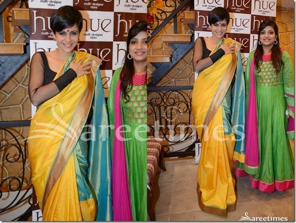 Mandira_Bedi_Yellow_Silk_Saree