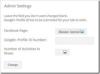 google+ tab for pages admin settings