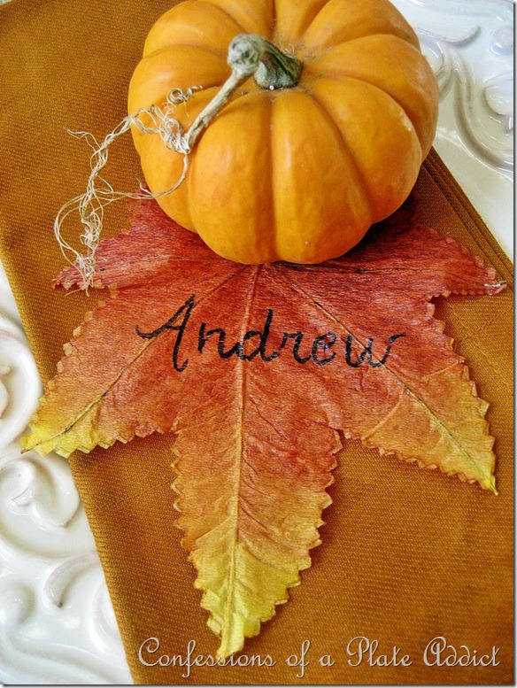 Leaf Placecard