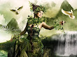 Green Witch And Doves
