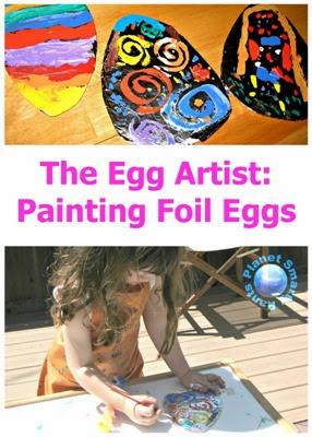 Painting Foil Eggs