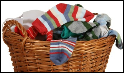 laundry-basket of socks