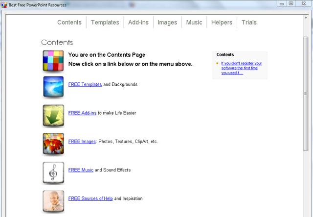 screenshot free PPT resources