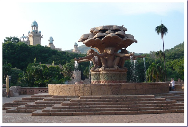 Sun-City-Johannesburg-África-do-Sul-Chafariz-Macacos