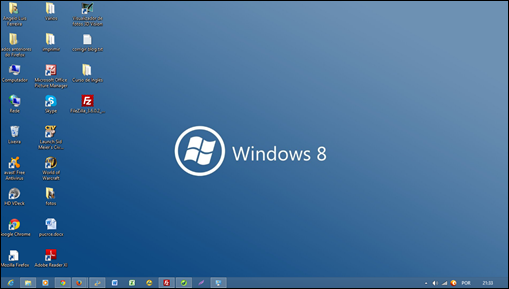 Tela de fundo da área de trabalho do Windows