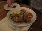 I am usually a raw oyster person, but these roasted ones tasted awfully good.