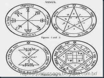 pentagramas sol Vênus e lua