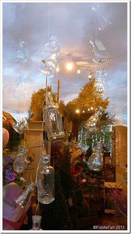 Hanging Bottles Flower Shop Codsall