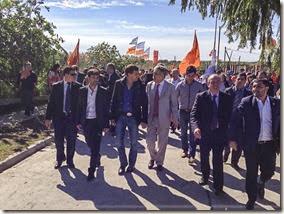 Juan Pablo de Jesús acompaña al ministro De Vido en inauguraciones en Berazategui