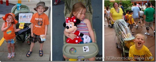 strollers at Disney World are a must for kids 5 and under