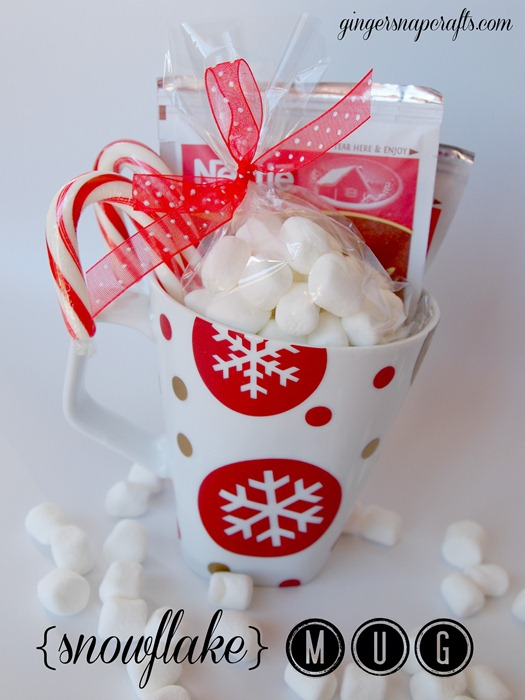 {snowflake} mug with Silhouette