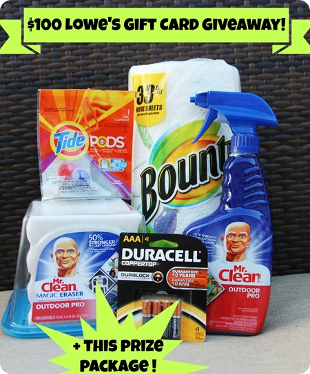 Lowes and P&G giveaway at 320 Sycamore