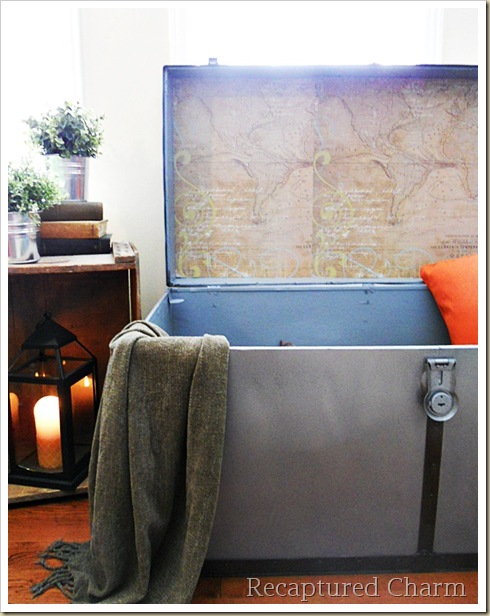 Metal Trunk Makeover 061a