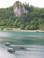 Traditional boat cruise on Lake Bled