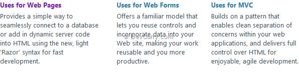 webpages-vs-webforms