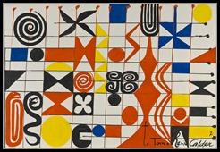 Alexander Calder Senza titolo, 1971 Guazzo su carta 74,6 x 110,1 cm Fondazione Solomon R. Guggenheim, New York.
