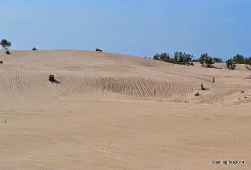 Sand everywhere!