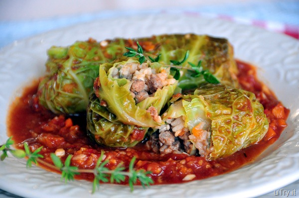 Braised Stuffed Cabbage