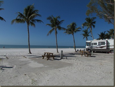 Red Coconuts Rv park on Fort Myers beach
