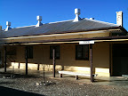 Jun 23 - Cook Railway Station at the ghost town in the middle of the Nullabor Plain- Population 5.