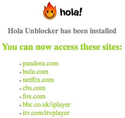 how to use hola unblocker