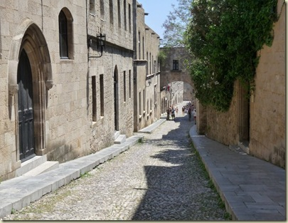 The Street of Knights, in Rhodes