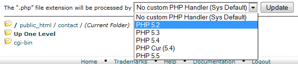 apply old version of PHP