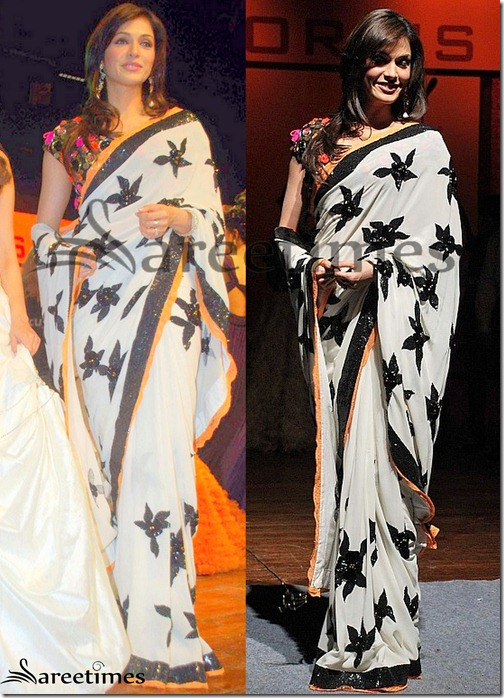 Isha_Koppikar_White_Saree