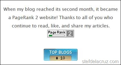Top 10 health blog Stef dela Cruz