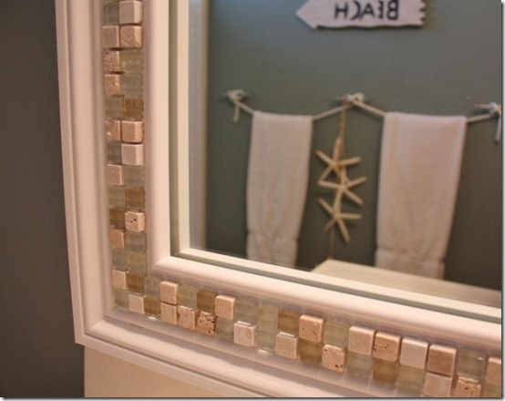 friday feature--diy mosaic tile mirror from sand and sisal blog